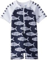 Snapper Rock Boys' Hampton Fish S/S One Piece Sunsuit (024mos) - 8155118