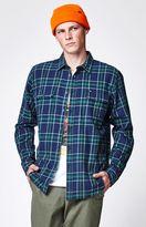 Obey Highland Flannel Long Sleeve Button Up Shirt