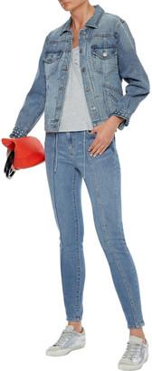 Current/Elliott The Seamed High Waist Ankle Skinny High-rise Skinny Jeans