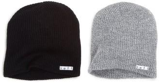 Neff 2 Pack Daily Beanie Black/Grey One Size/One Size