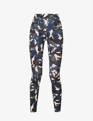 Lorna Jane Off Duty abstract-print stretch-jersey leggings