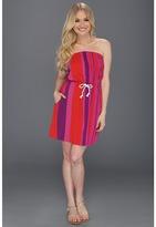 Roxy Fairest Light Dress (Fuchsia Stripe) - Apparel