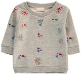 Simple Sale - Flower Embroidered Sweatshirt