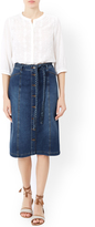Monsoon Sabrina Longer Length Denim Skirt