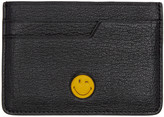 Anya Hindmarch Black Wink Smiley Card Holder