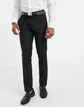 Topman skinny suit pants in black