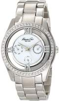 Kenneth Cole New York Kenneth Cole Women's KC4923 Silver Stainless-Steel Quartz Watch with Mother-Of-Pearl Dial