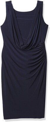 Marina Women's Side Ruch Dress with Back Detail