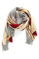 BP Women's Stripe Plaid Scarf