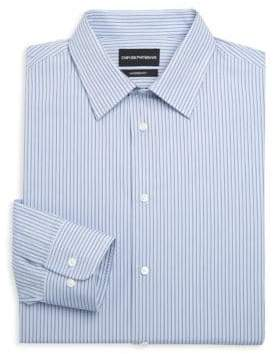 Emporio Armani Modern Fit Cotton Striped Dress Shirt