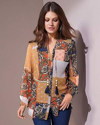 Together Floral Patch Print Top