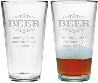 Susquehanna Glass Beer Making Others Attractive Pint Glasses (Pair of 2) 16 oz