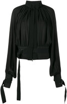 Ann Demeulemeester collarless pleated jacket