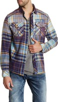 Affliction Athletic Fit Rebel On Wheels Woven Shirt