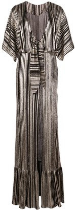 PatBO Metallic Stripe Maxi Dress