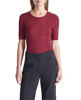 David Lawrence Carrie Varigated Rib Knit Berry