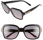 Tory Burch Women's 55Mm Polarized Sunglasses - Black