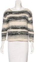 Maje Striped Wool-Blend Sweater