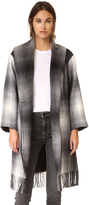 Alexander Wang Fringed Blanket Shawl Collar Coat