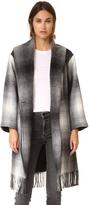 Alexander Wang Fringed Blanket Shawl Collar Coat
