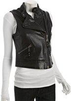black washed leather 'Friday' vest