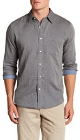 Faherty Long Sleeve Solid Trim Fit Shirt