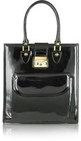 L.a.p.a. Black Patent Leather Tote Bag