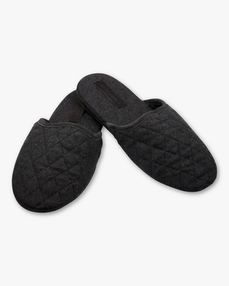 Sofia Cashmere Suede Trim Quilted Cashmere Slippers