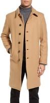 Schott NYC Men's Wool Blend Officer's Coat