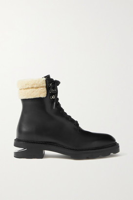 Alexander Wang Andy Shearling-trimmed Leather Ankle Boots - Black