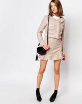 Sister Jane Pink Lemonade Tweed Skirt Co-Ord With Frill