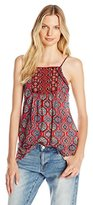 Lucky Brand Women's Embroidered Cami Tank Top
