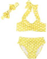 eKooBee Baby Girls Swimwear Polka Dot Swimsuit 3PC Swim Set