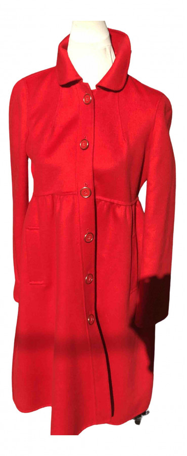 DKNY Red Wool Coats