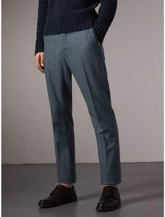 Burberry Soho Fit Wool Trousers