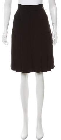 Chanel Pleated Silk Skirt