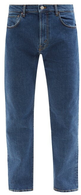Thumbnail for your product : Jeanerica Jeans & Co. - Tm005 Organic Cotton-blend Tapered-leg Jeans - Dark Blue