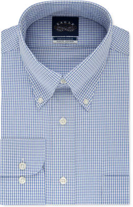 Eagle Men Slim-Fit Non-Iron Flex Collar Check Dress Shirt