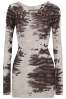 Enza Costa Printed Ribbed Jersey Top