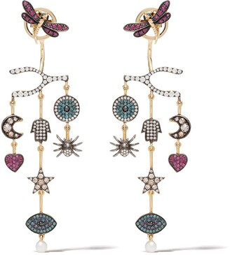 Annoushka 18kt yellow gold Love Diamonds Chandelier diamond earrings