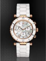 GUESS Gc DIVER CHIC White Ceramic Chronograph Timepiece