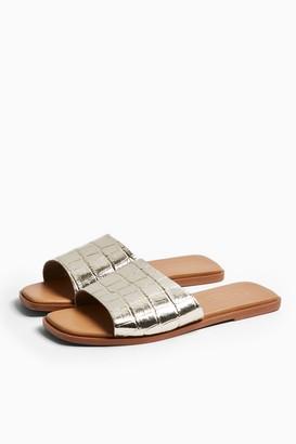 Topshop PAISLEY Gold Sandals Mules