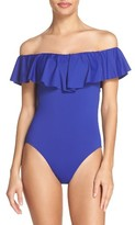 Trina Turk Women's Off The Shoulder One-Piece Swimsuit
