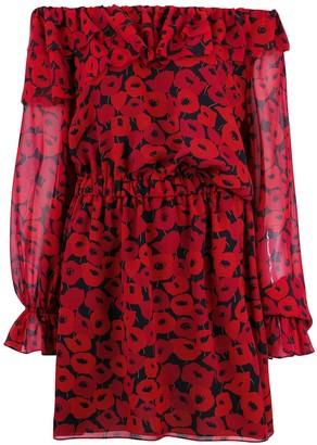 Saint Laurent poppy print dress