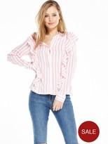 Vero Moda Erika Ruffle Shirt - Snow White Peony