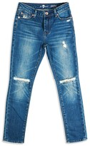 7 For All Mankind Boys' Paxtyn Ripped Skinny Jeans - Sizes 8-16