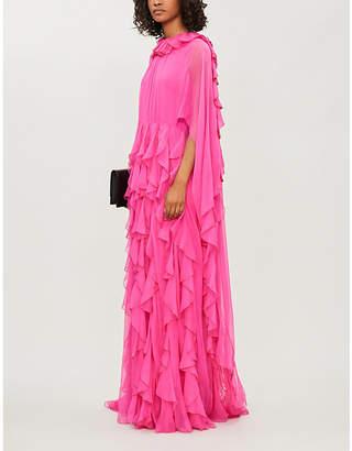 Valentino Ruffled silk gown