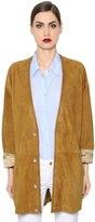 Trussardi Suede Jacket W/ Zigzag Stitching