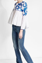 Kas Embroidered Cotton Blouse