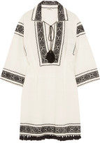 Talitha - Embroidered Cotton Tunic - large